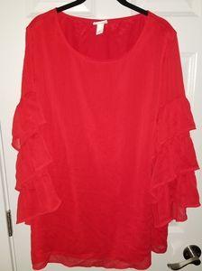 Ava & Viv 3/4 Sleeve Shirt   Women's 1X